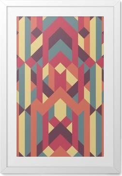 Poster i Ram Abstrakt retro geometriskt mönster