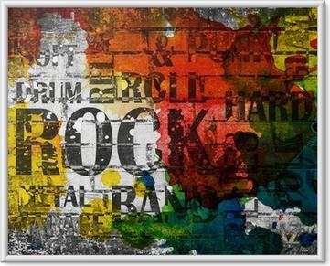 Poster i Ram Grunge rockmusik affisch