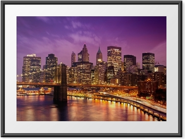 Poster i Ram New York Manhattan Pont de Brooklyn