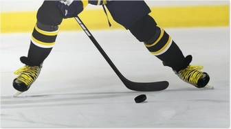 Ice Hockey Player on Rink Poster