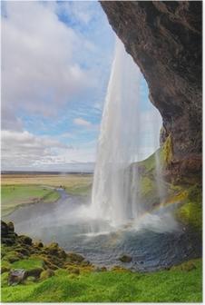 Iceland waterfall - Seljalandsfoss Poster