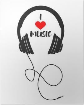 Poster Ik houd van muziek