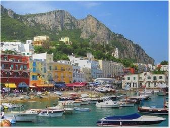 Póster Ile de Capri, Italia, Europa
