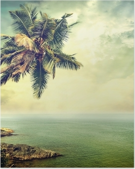 Poster Île tropicale
