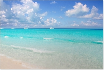 Illetes Formentera East beach tropical turquoise Poster