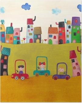 Poster Illustratie voor kinderen
