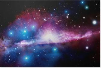 Illustration of a nebula Poster