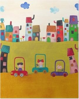 Poster Illustration pour les enfants
