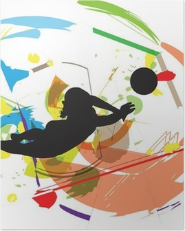 Poster Illustration Volley-ball