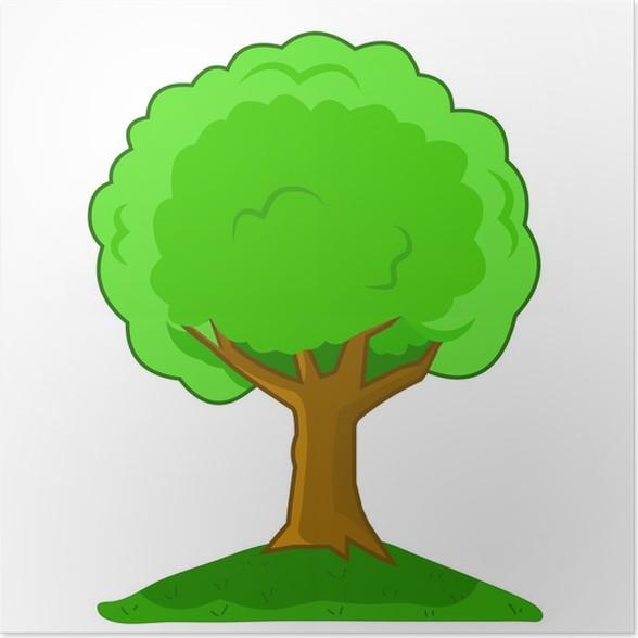 p ster ilustraci n vectorial rbol de dibujos animados