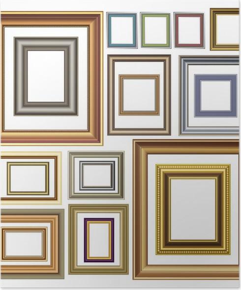 Póster Imagen de fotos marcos de vector de diseño vintage de lujo ...