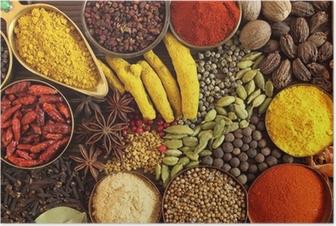 Poster Indiska kryddor