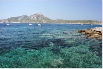 Poster Insel Dragonera vor Mallorca
