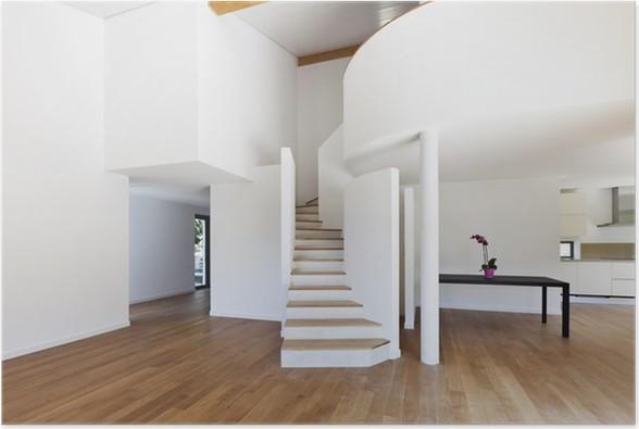 Poster interieur modern huis een grote open ruimte trap u2022 pixers