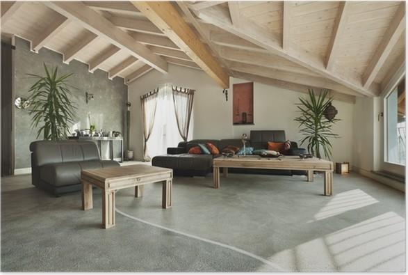 Poster Interieur nieuw hok, etnische meubels, woonkamer • Pixers ...