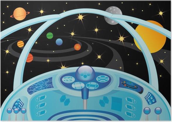 poster int rieur vaisseau spatial dans l 39 univers pixers nous vivons pour changer. Black Bedroom Furniture Sets. Home Design Ideas