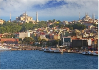 Istanbul from Galata tower, Turkey Poster