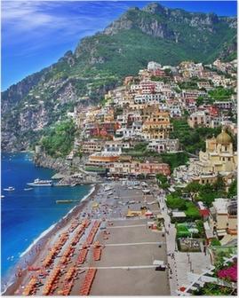 Poster Italie pittoresque - Positano