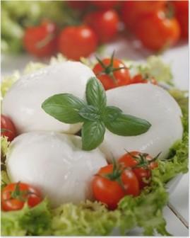 Poster Italien mozzarella de bufflonne avec des tomates cerises