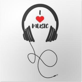 Poster J'aime la musique