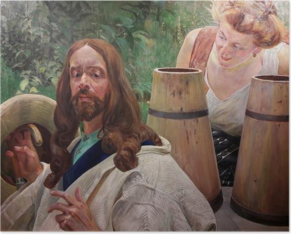 Poster Jacek Malczewski - Le Christ et la samaritaine - Reproductions