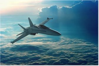 Poster Jachtvliegtuig