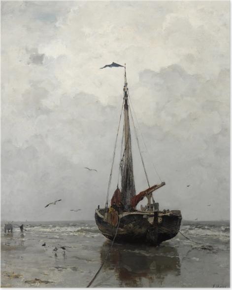 Poster Jacob Maris - Bateau de pêche - Reproductions