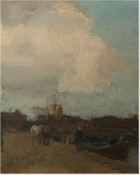 Poster Jacob Maris - Côté du canal - Reproductions