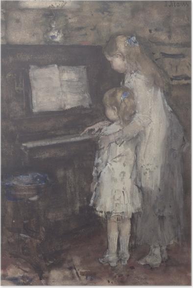 Poster Jacob Maris - Les filles de Jacob Maris au piano - Reproductions