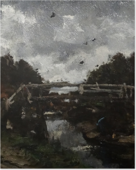 Poster Jacob Maris - Pont de bois - Reproductions