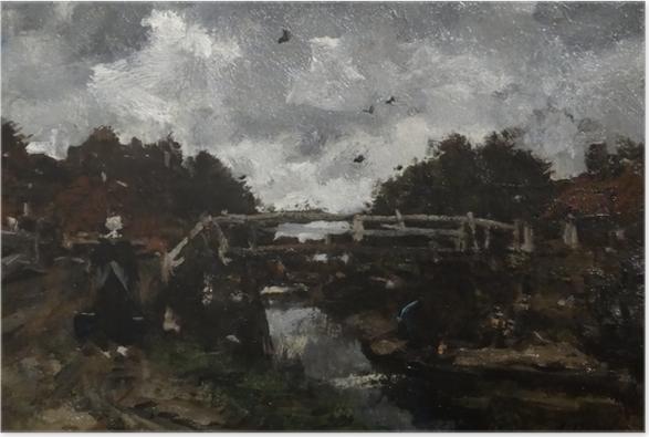 Poster Jacob Maris - Pont de bois - Reproductions