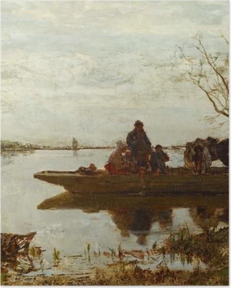 Poster Jacob Maris - Traversée de ferry - Reproductions