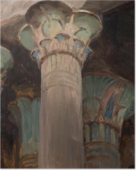 Poster Jan Ciągliński - Capitales dans le temple d'Isis. Du voyage en Grèce. - Reproductions