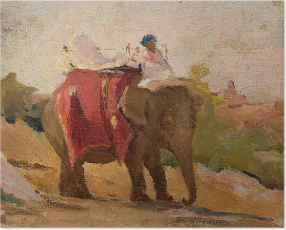Póster Jan Ciągliński - Chitorgarh - Mi elefante. Del viaje a la India - Reproductions
