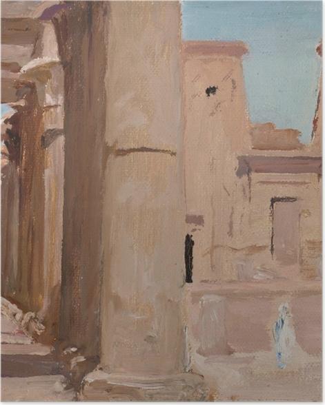Poster Jan Ciągliński - Temple. Du voyage en Egypte. - Reproductions