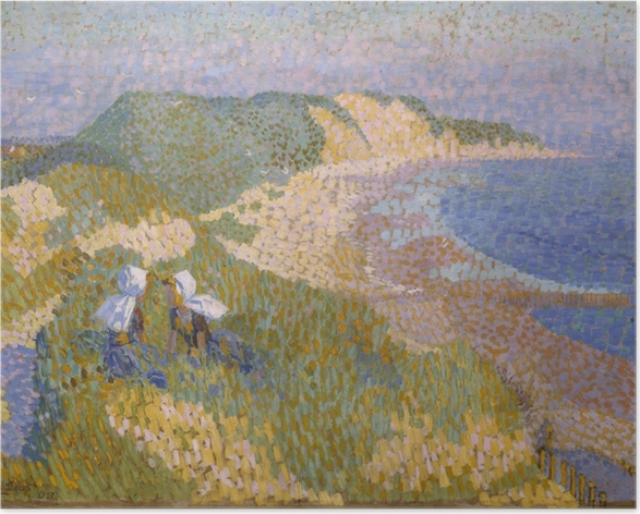 Jan Toorop - Dunes and Sea in Zoutelande Poster - Reproductions