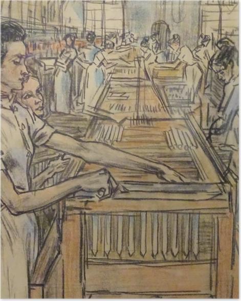 Poster Jan Toorop - Fabrique de bougies à Gouda, 2 - Reproductions