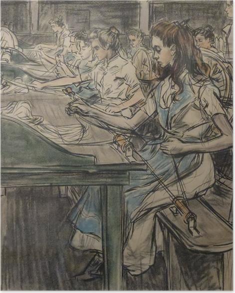 Poster Jan Toorop - Fabrique de bougies à Gouda, 3 - Reproductions