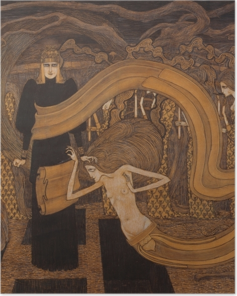 Poster Jan Toorop - Fatalisme - Reproductions