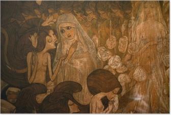 Póster Jan Toorop - Las tres novias II