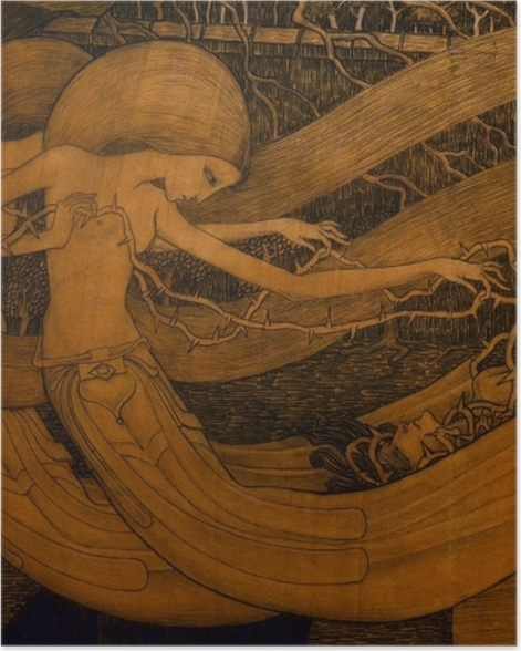 Poster Jan Toorop - Ô tombe, où est ta victoire ? - Reproductions
