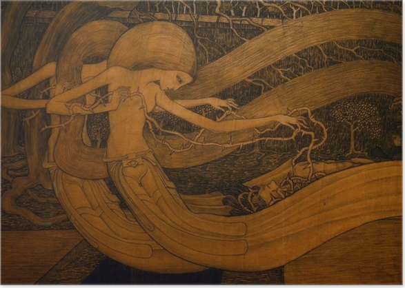 Poster Jan Toorop - Ô tombe, où est ta victoire ? - Reproductions