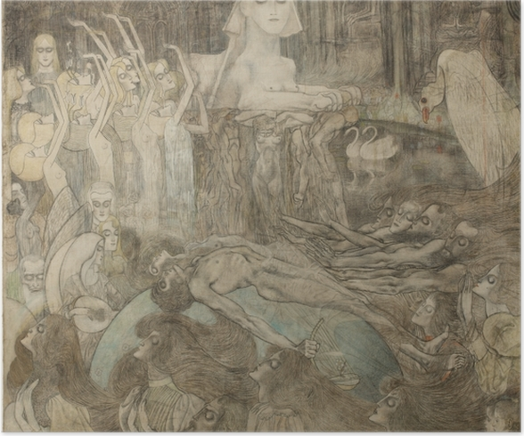 Poster Jan Toorop - Sphinx - Reproductions