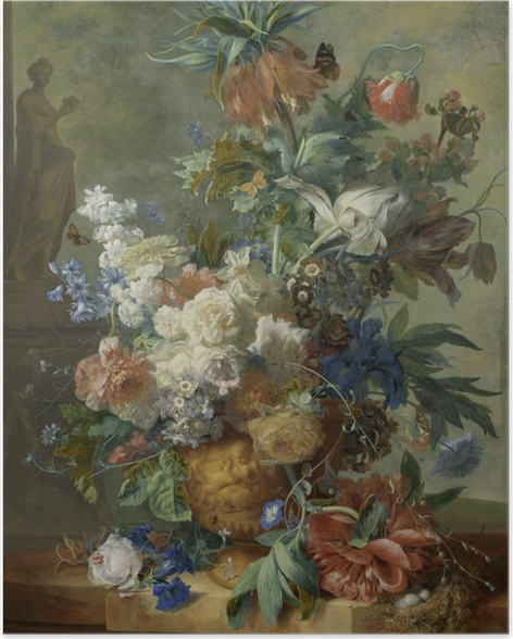 Poster Jan van Huysum - Still Life with Flowers - Reproductions