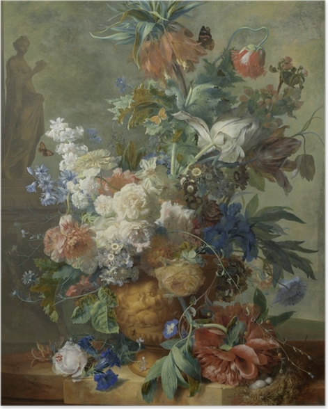 Jan van Huysum - Still Life with Flowers Poster - Reproductions