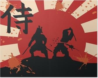 Poster Japan samurai