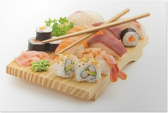 japanese sushi plate Poster