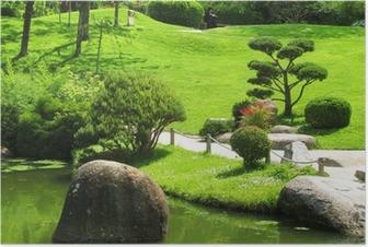 Poster Japansk trädgård