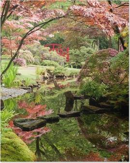 Poster Jardin japonais Monet style