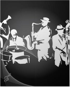 Poster Jazzconcert zwarte achtergrond